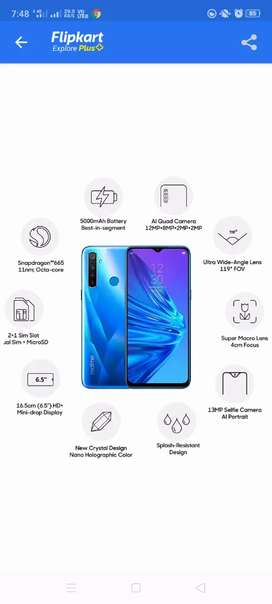 Realme 5  4gb ram 2 manth old under warranty bil box cahrger available