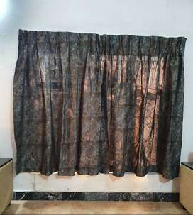6 drawing room curtains and 4 bed room curtains curtains
