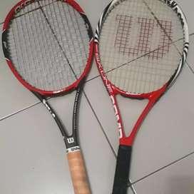 Raket tenis wilson ada 2 jual satuan boleh