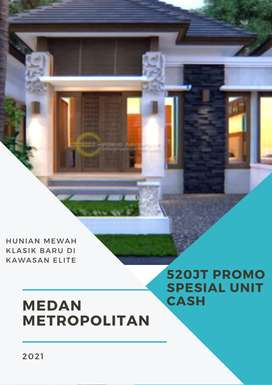 Rumah Klasik Desain Minimalis Mewah di Tengah Kota Medan