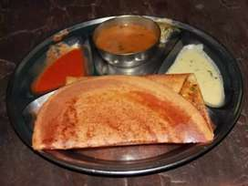 Madrasi dosa and paav bhaji