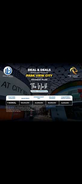 1 kanal commercial plot in Park View City Islamabad