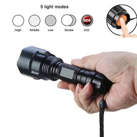 Paket Senter LED Flashlight Cree Q5 4000 Lumens + Charger + Box