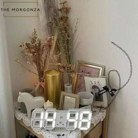 Jam LED Putih Model Miring