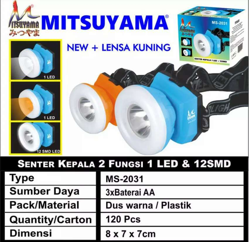 Senter Kepala 2 In 1 MS - 2031 0