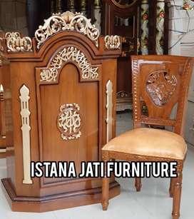 Mimbar masjid khutbah masjid podium Mimbar kayu jati
