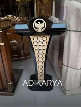 Podium mimbar pidato presiden kayu jati (logo ukiran garuda).