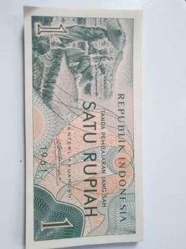 Uang  1 rupiah tahun 1961