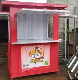 Booth semi kontainer, gerobak dagang, booth dagang