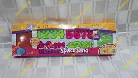 Mainan Pasir Cetak Number Space Sand