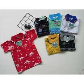 Wangki shirt / kaos anak berkerah