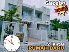 Rumah Baru Siap Huni SHM IMB 2 lantai okus Gazebo