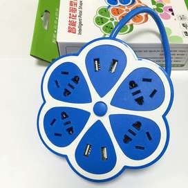 4 Outlets 4 Ports Power Adapter Extension Cable