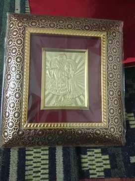 Golden radha krishna gift set