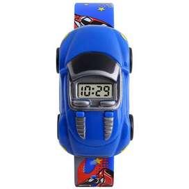 SKMEI Jam Tangan LED Anak - Anak Bentuk Mobil - DG1241 - Dark Blue
