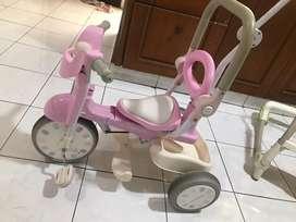 sepeda iimo macaron warna pink imut