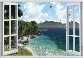 3D wall images installation  service