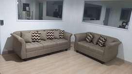 Sofa Minimalis Viena 3+2 Sitter (Free bantal 10 Unit) - Trade In
