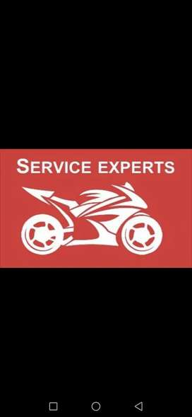 Required Technician / Mechanic for bike service.