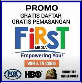 PROMO FIRST MEDIA  INTERNET + TV CABLE UNLIMITED