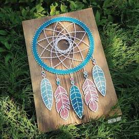 Nail art of dream catcher