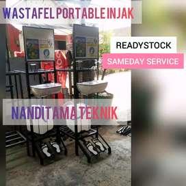 Tempat cuci tangan tnpa sentuh tangan(wastafel portable, injak)
