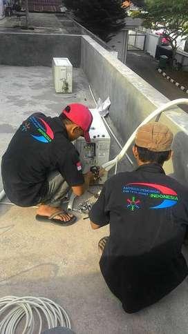 Jasa tukang teknisi servis service AC murah Jogja yogya standar covid