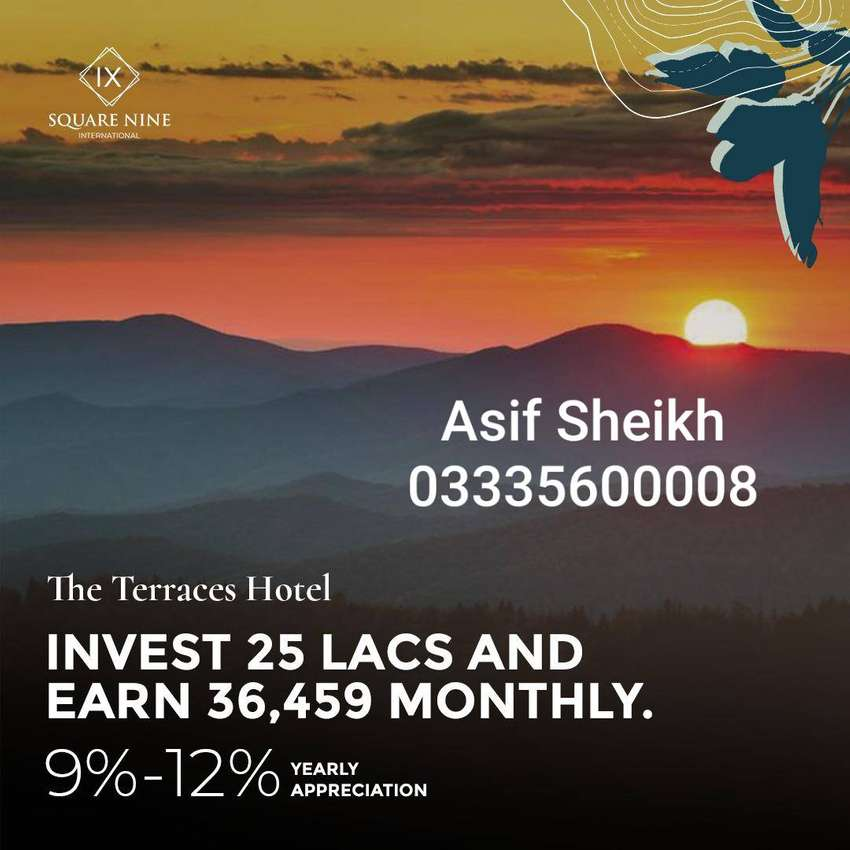 Investment in Bahria Town Terraces Hotel 0