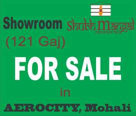 121 gaj Showroom is available for sale in Aerocity, Mohali
