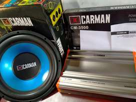 Paketan audio Power dan Subwoofer Mantap murah