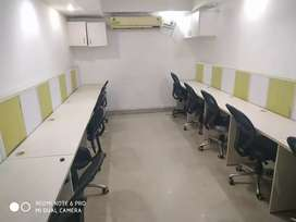 Fully furnished office 1 cabin, 10 seats for Rent in sector 4 Noida.