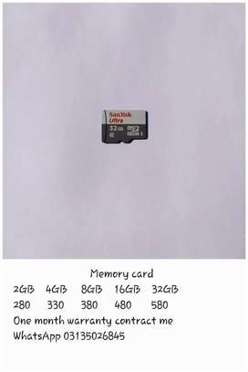 Memory card available discount rate with one month warranty