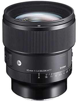 Sigma 85mm art lens 1.4