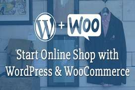 We'll create ecommerce website and online store with woocommerce.