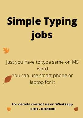 Home base simple typing jobs, daily payout