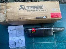 Knalpot silencer akrapovic karbon ninja 250 2018 original Slovenia.