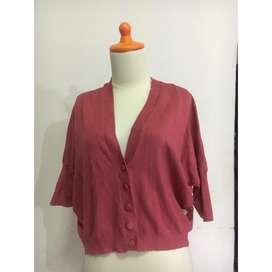 Sweater Pink Punch / preloved / sweater bekas