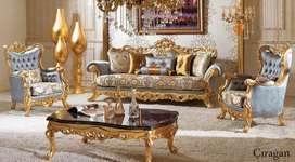 Luxury furniture kursi klasik khas ukir Jepara
