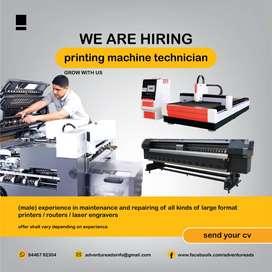 Printing machine technician