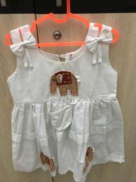 Dress elephant white thai size 1-2thn