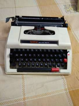 Black And White Brother Typewriter