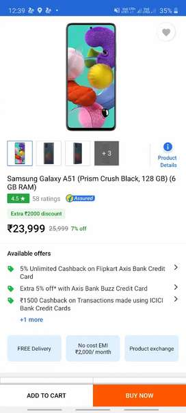 Samsung Galaxy A51) phone 3 days old only