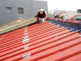 Perbaikan atap bocor,dak,talang,bangunan,renovasi,plafon,cat,keramik