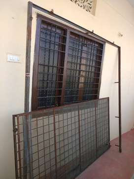 Iron Sliding Gate with mesh