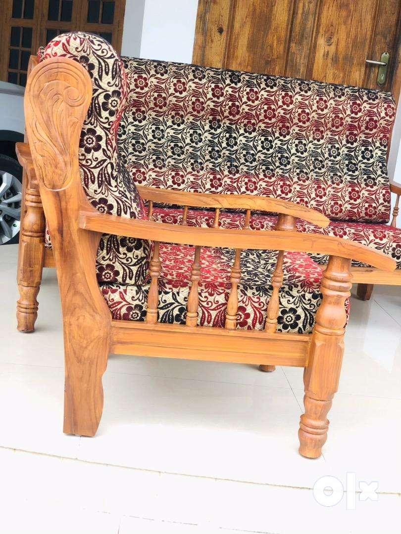 New Teak wood 5 seater setti (3+1+1)