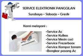 Service Mesin cuci, Kulkas, Ac, Kompor tanam, Frezerbox, Pompa air