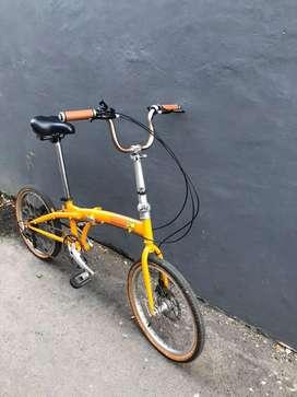 Sepeda lipat baru dipakai 2 minggu