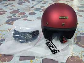Helm Retro NJS NX-2 Maroon Doff
