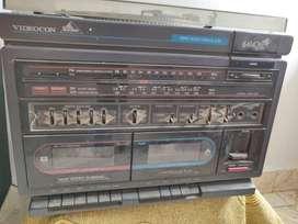 Videocon radio, cassette, record player with big speakers