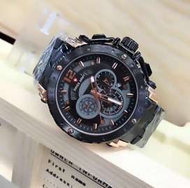 jam tangan swiss army 3 chrono on diameter besar+strap ya